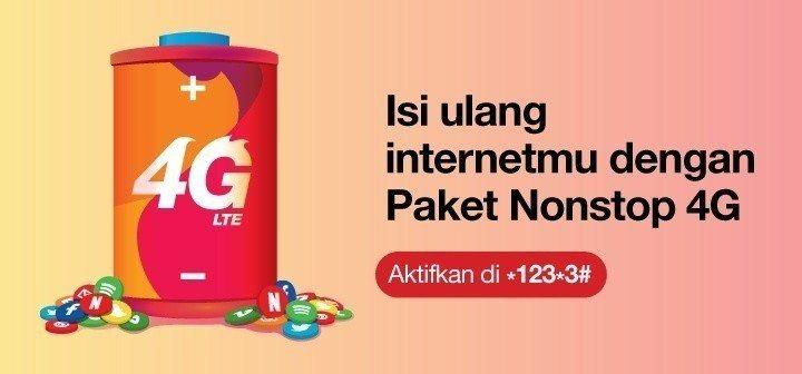 Nonstop 4g Lte Tri Paket Internet Tri Dengan Jaringan Lebih Cepat Sepulsa